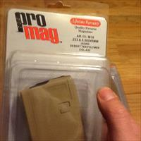AR15 (3) Promag 42 round hi-cap Magazines Desert Tan in 5.56 NATO, .223 and .300 Whisper/Blackout AR-15 mags New