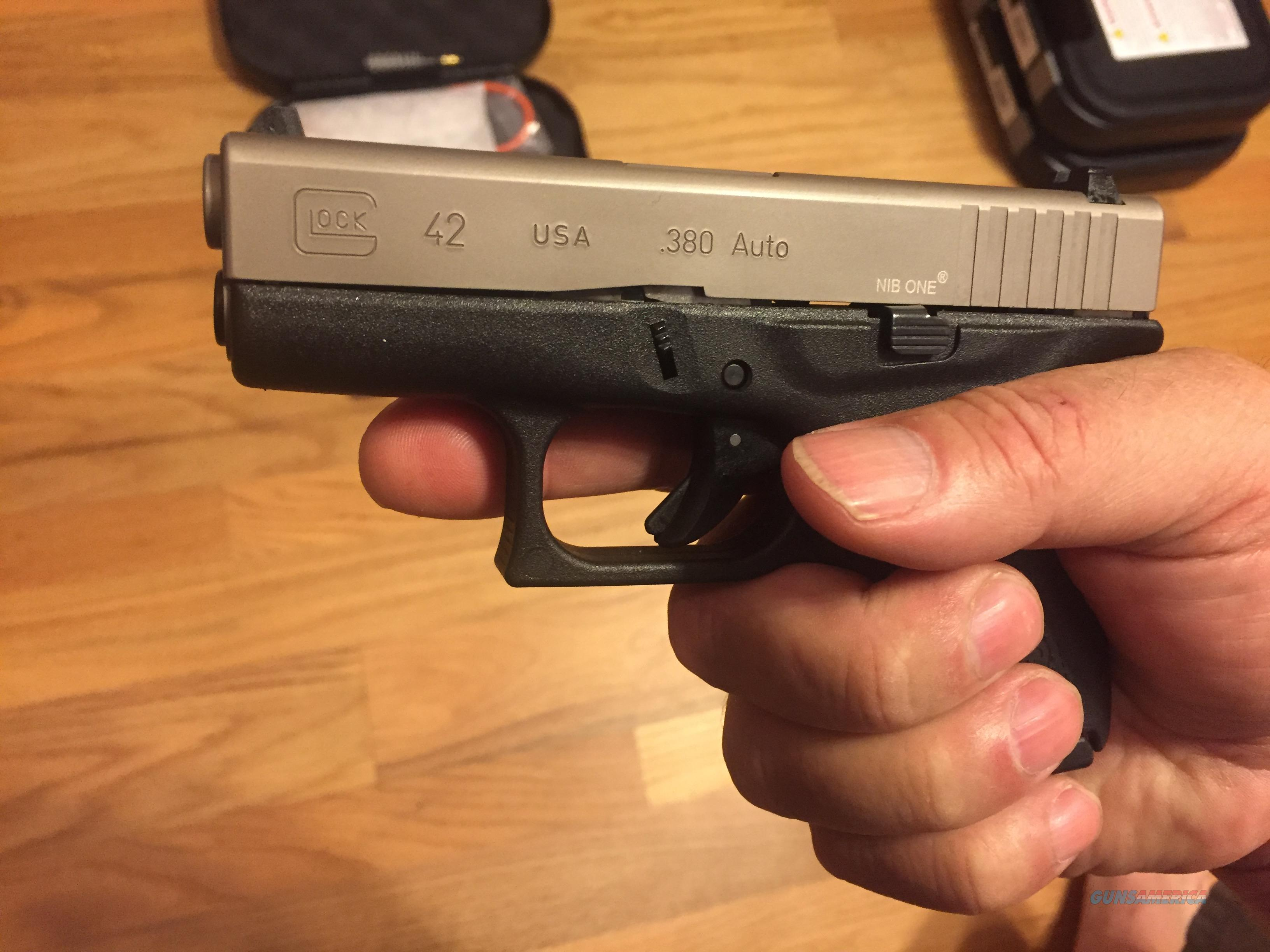 Glock 42 Nib One Nickel Boron In 380acp G42 For Sale