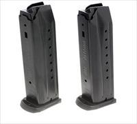 Ruger 90449 Replacement Magazine 2 Pack SR9/SR9C 9mm 17rd Black