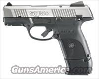 RUGER SR9C Compact 9mm 3.5 Inch Brushed Stainless Barrel Adjustable Sights Reversible Backstrap Ambidextrous Safety Built In Rail And Two 17 Round Magazines