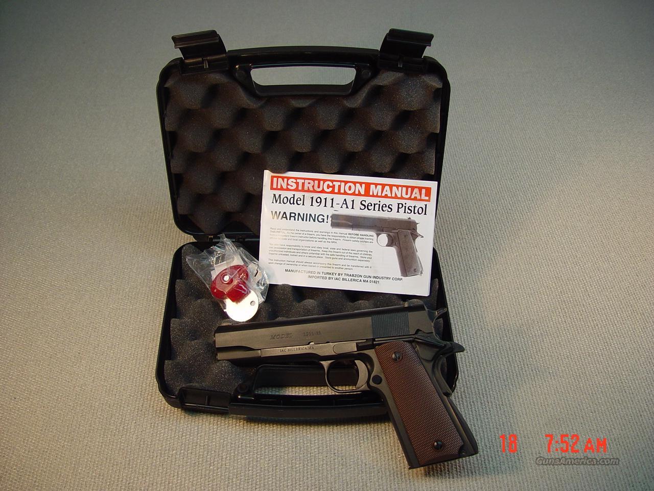 Iac 1911 A1 45acp Pistol Nib For Sale Colt Model 1911a1 Parts Diagram 3398697