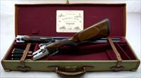SCOTT DOUBLE RIFLE .475 No.2 CAL with CASE and AMMO