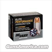 Sig Sauer Elite V-Crown JHP 9mm Ammo 124gr