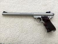"Ruger Mark II, 10"" SS bull barrel, with extras."