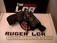 Ruger LCR 22 double action,polymer housing,alluminum frame,and steel cylinder with Hogue tamer grip 8 round 1.875 barrel #rug 5410