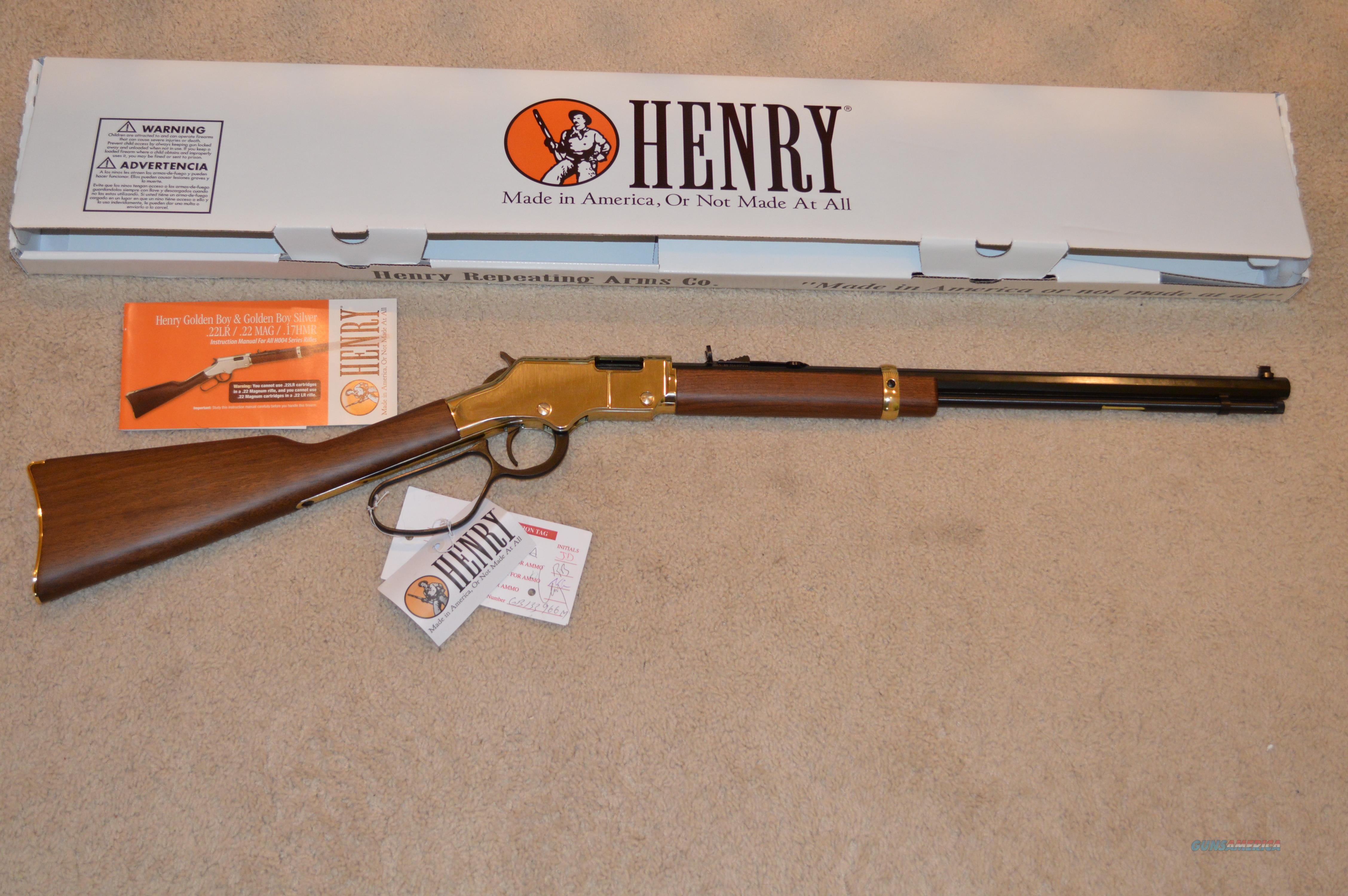 henry golden boy 22 magnum large loop for sale