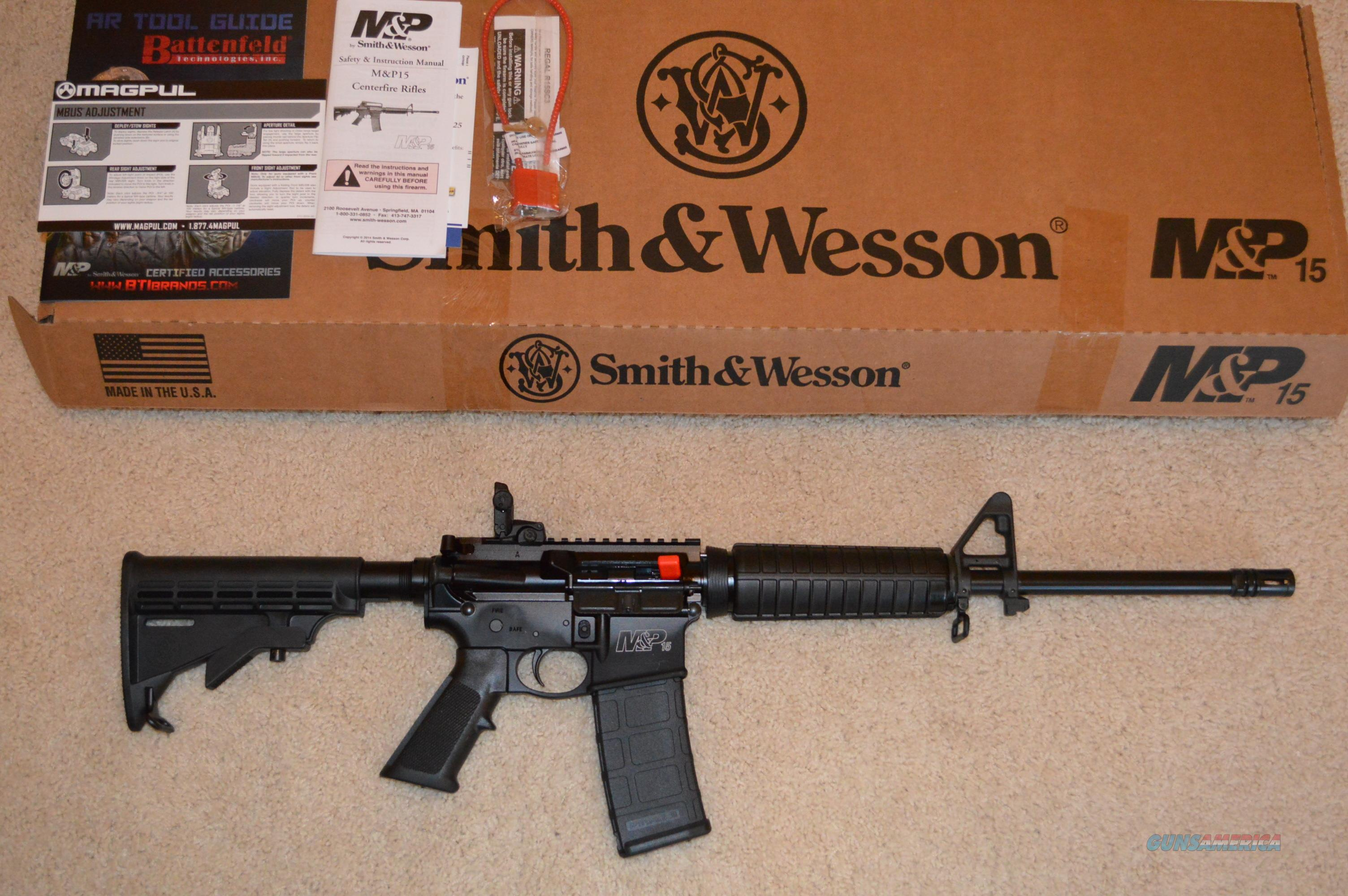 smith and wesson m p sport ii ar 15 for sale rh gunsamerica com MP 15 Tactical MP 15 22 Parts Diagram