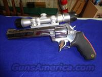 TAURUS RAGING BULL 454 CASULL WITH SCOPE 3 X 6 BUSHNELL