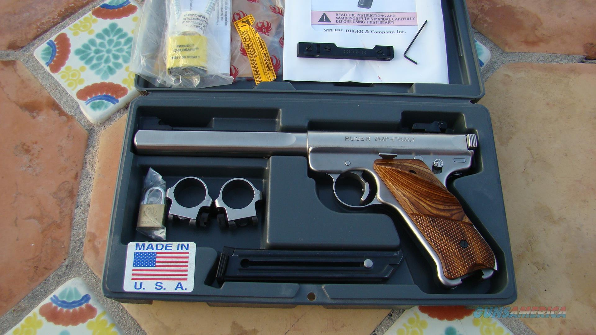 ruger mark ii u201ctarget competition model u201d 22 sta for sale rh gunsamerica com Ruger Mark II Target Barrels Ruger 22LR Target Pistol