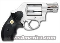 Smith and Wesson M637 Performance Center Wyatt Deep Cover Gunsmoke Revolver (Glass Beaded Stainless/Black Grips)