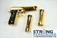Beretta 92S and 92FS Gold Plated set with Shoulder Rig