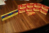 7 BOXES MINT VINTAGE SAVAGE AND SUPER-X .222 REMINGTON AMMO