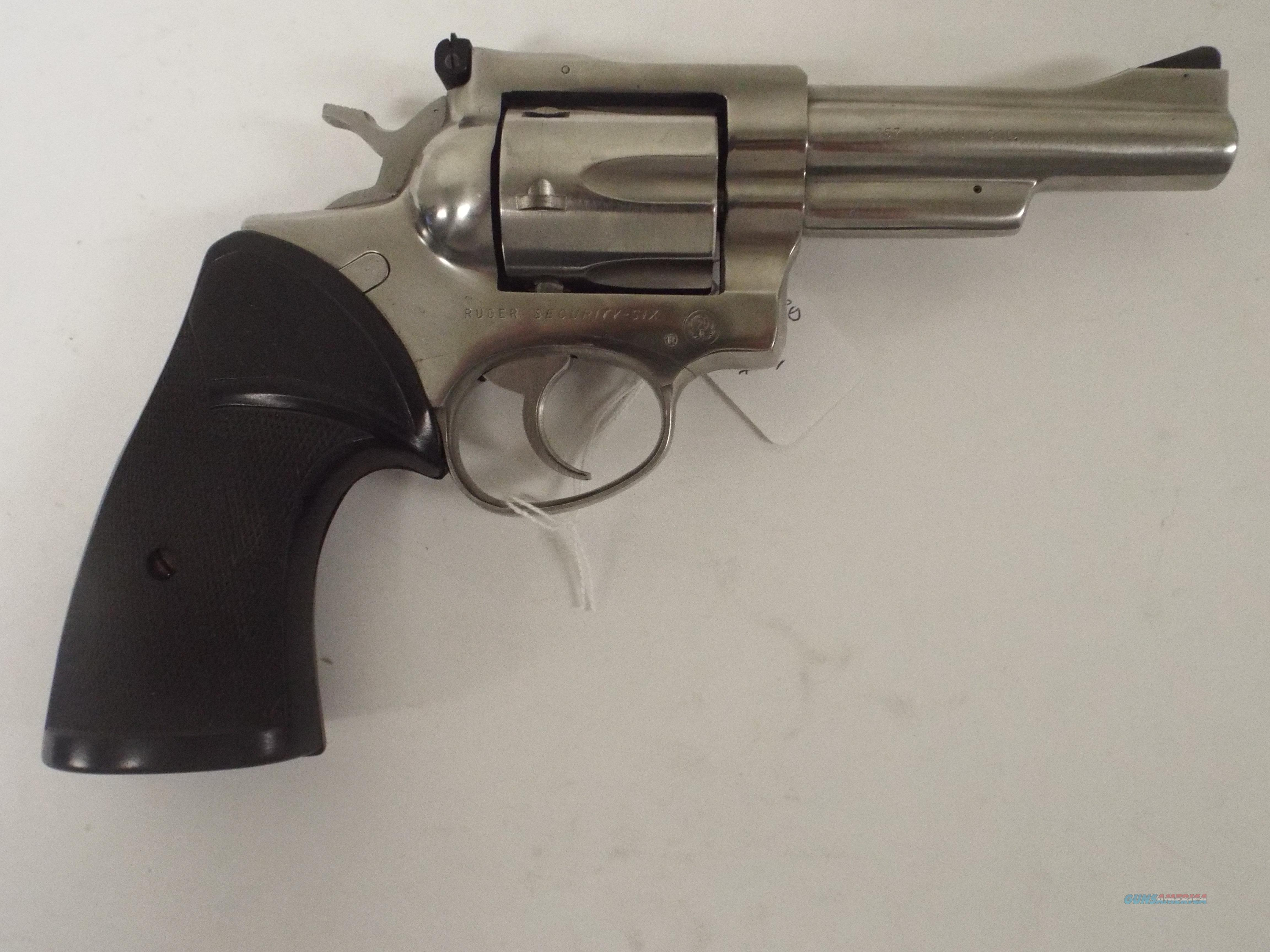 RUGER SECURITY SIX 357 STAINLESS Guns > Pistols > Ruger Double Action  Revolver > Security Six