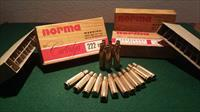 NORMA ORIGINAL ammunition BOXES  222 caliber over 55 years old circa 1960
