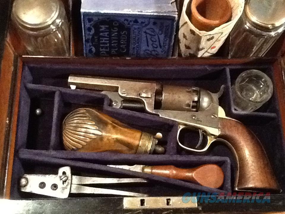 Antique Gambling Kit with Colt 1849 Pocket pistol