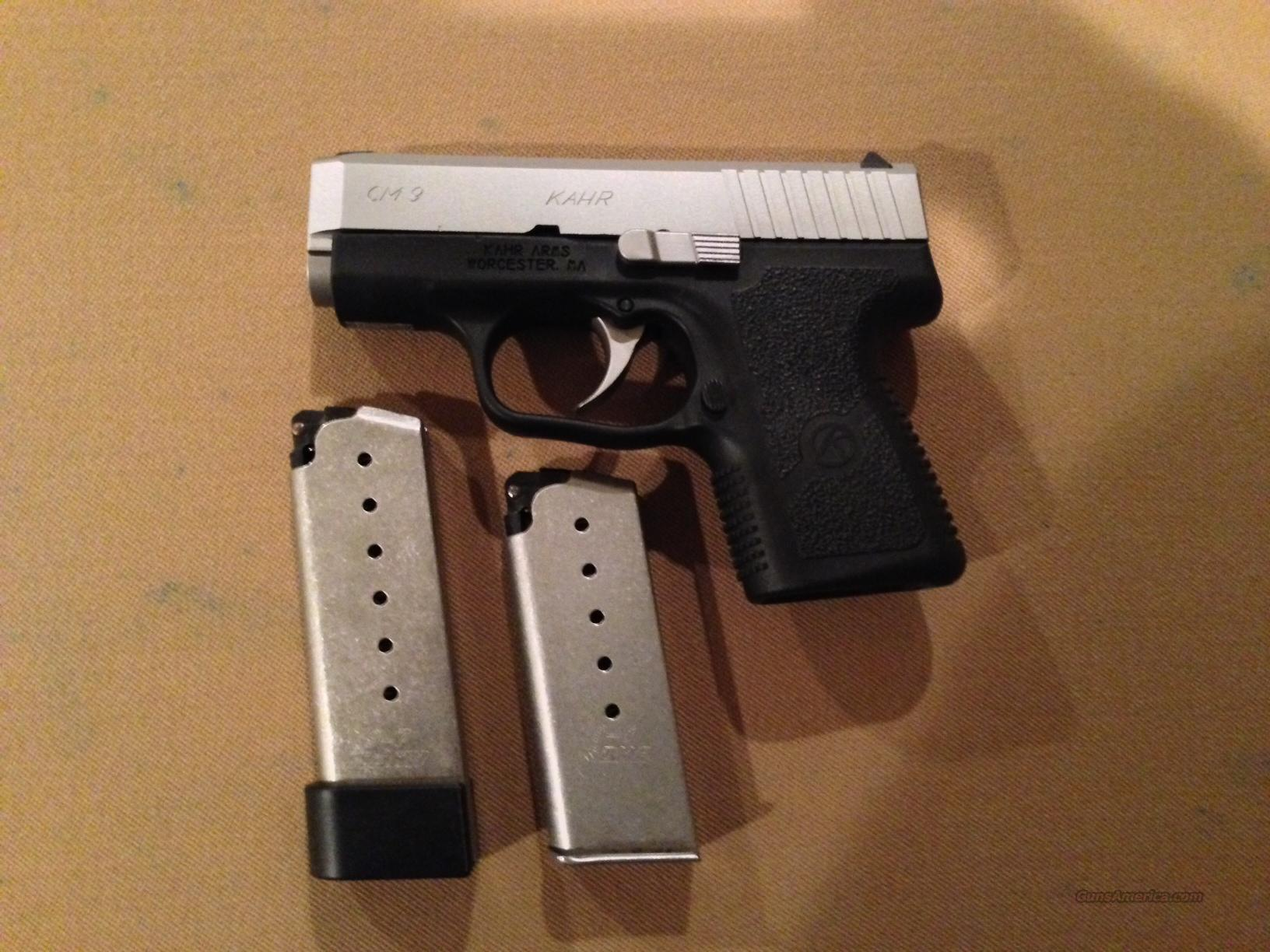 Kahr Cm9 9mm Wholster Extended Mag For Sale