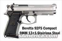 Beretta 92FS COMPACT - 9MM 13+1 Stainless  NEW ITEM FOR 2013 FROM BERETTA J90C9F20