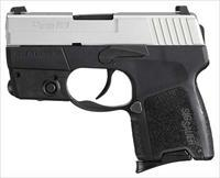 "SIG P290RS .9MM 2.9"" NIGHT SIGHT W/LASER 8-SH TWO-TONE"