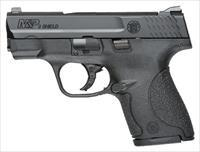 Smith & Wesson S&W M&P9 SHIELD 9MM LUGER FS BLACKENED SS/BLK NO THUMB SAFE 10035
