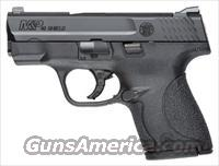 S&W M&P40 .40SW SHIELD FS BLACKENED SS/BLK NO THUMB SAFT 10034
