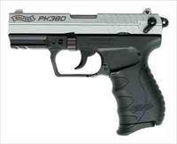 "Walther WALTHER PK380 .380ACP 3.6"" AS 8-SHOT 2-TONE NICKEL/BLACK 5050309"