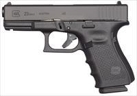 "Glock UG2350203 G23 Gen 4 Compact 40 S&W Double 4.01"" 13+1 Black Interchangeable Backstrap Grip"