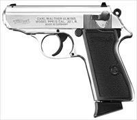 "Walther WALTHER PPK/S .22 LR 3.35"" FS 10-SHOT NICKEL PLATED 5030320"