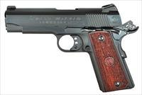 "American Classic ACC9B 1911 Commander Single 9mm Luger 4.25"" 9+1 Hardwood w/MAC Logo Grip Blued"