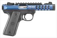 "Ruger RUGER 22/45 LITE .22LR 4.4"" BULL AS DEEP BLUE ANODIZ* 3908"
