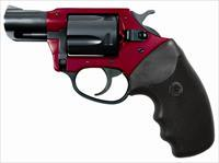 Charter Arms UNDERCOVER LITE 38S RED/BLK 2 RUBBER GRIPS / 5-SHOT
