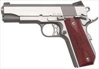 "Dan Wesson 01912 Commander Classic Bobtail 45 ACP 4.3"" 8+1 Wood Grips SS"