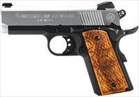 "American Classic ACA45DT 1911 Amigo Single 45ACP 3.5"" 7+1 Hardwood Grip Blued Frame Hard Chrome"
