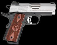 "Springfield Armory PI9209LCA 1911 *CA Compliant* Single 9mm 3"" 9+1 Cocobolo Grip Stainless Steel"