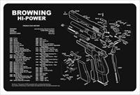 Tekmat Armorers Bench Mat - 11x17 Browning Hi-power