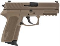 "Sig Sauer E20229FDE SP2022 Full Size Single/Double 9mm Luger 3.9"" 15+1 Flat Dark Earth Polymer Grip"