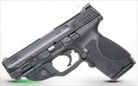 Smith and Wesson MP9 M2.0 CMPCT 9MM GRN LASER 12413|CT GREEN LASER|NO SAFETY