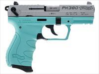 "Walther Arms 5050325 PK380 Pistol Single/Double 380 Automatic Colt Pistol (ACP) 3.6"" 8+1 Angel Blue"
