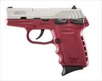 SCCY Industries CPX-1 9MM SS/CRIMSON 10+1 SFTY CRIMSON POLYMER FRAME