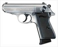 "WALTHER PPK/S .22 LR 3.35"" FS 10-SHOT NICKEL PLATED 5030320"