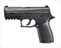 "Sig Sauer 320CA9BSS10 P320 Carry Double 9mm Luger 3.9"" 10+1 Black Polymer Grip Black Nitron"