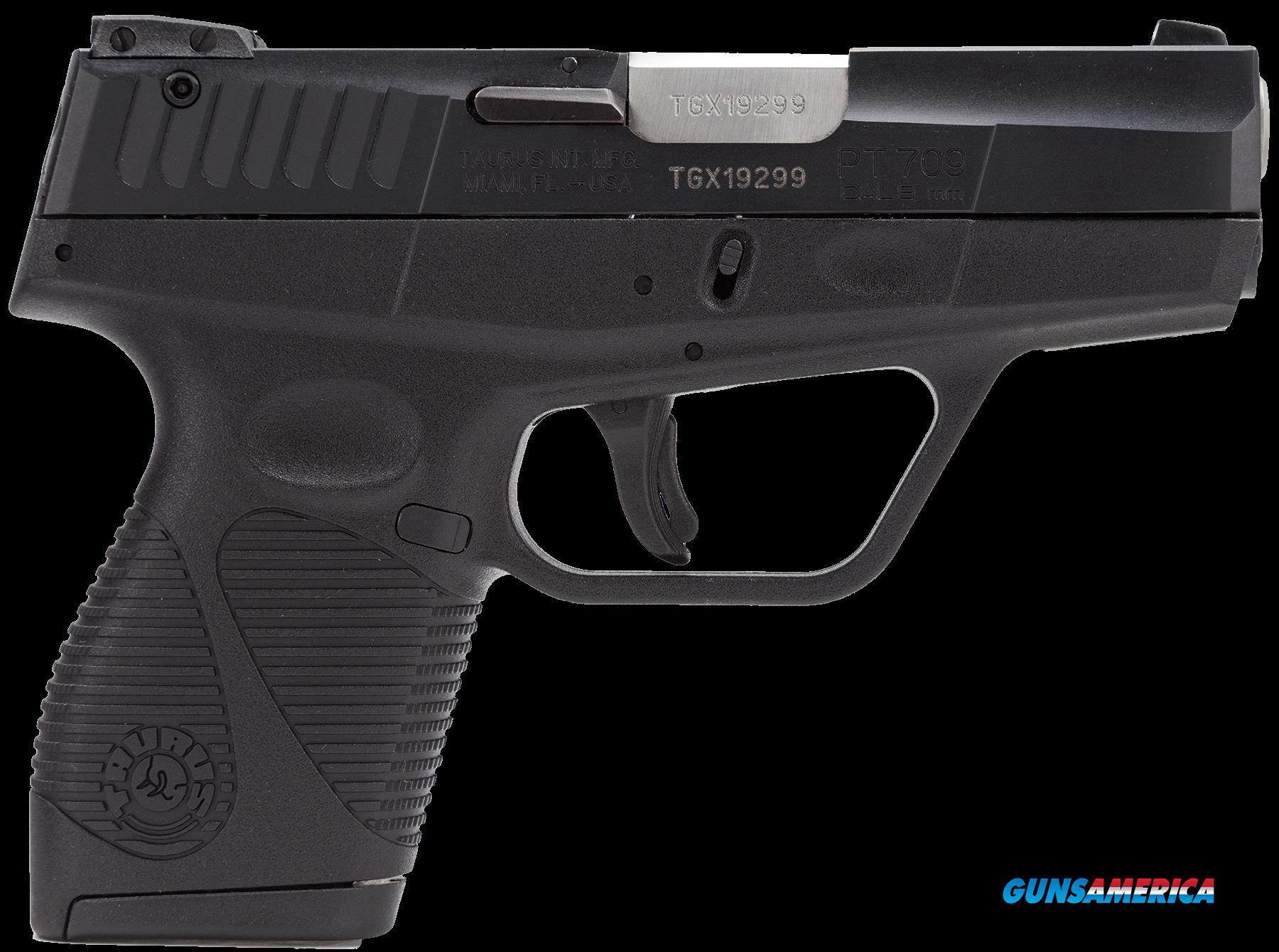 709 slim 9mm pistol - Taurus 1709031fs 709 Slim Sa Da 9mm 3 6 1 Black Poly Grip