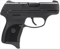 "Ruger 3219 LC380 Standard Double 380 Automatic Colt Pistol (ACP) 3.12"" 7+1 Black Polymer Grip/Frame"