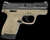 "Smith & Wesson 10303 M&P 9 Shield Double 9mm Luger 3.1"" 7+1/8+1 Flat Dark Earth Polymer Grip/Frame"