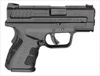 "Springfield Armory Xdg9802hc Xd Mod.2 Sub-Compact 40 Smith & Wesson (S&W) Double 3"" 9+1/12+1 Black Polymer Grip/Frame Black Melonite Slide XDG9802HC"