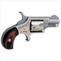 "North American Arms Mini-Revolver .22 Short 1-1/8"" Stainless Wood NAA22S"