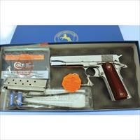 Colt 1911 38 Super Gover Bright StainlesO2071ELC New