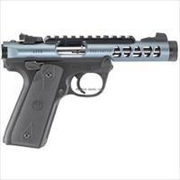 "Ruger Mark Iv Semi Auto Pistol 22 Lr 22/45 Lite Diamond Gray 4.4"" Polymer 10Rd Adj Sights Threaded G43918"