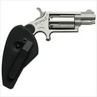 "North American Arms Mini-Revolver .22Wmr 1-1/8"" S/S Matte W/Holster Grip NAA-22MS-HG"