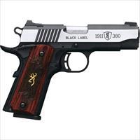 "Browning Black Label Medallion Pro 1911-380 .380Acp Fs 3.62"" Wood 051913492"