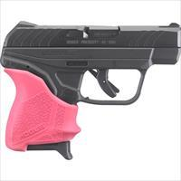 Ruger Lcp Ii .380Acp 6-Shot Fs Blued Pink Hogue Slip On Grip RUG 3777
